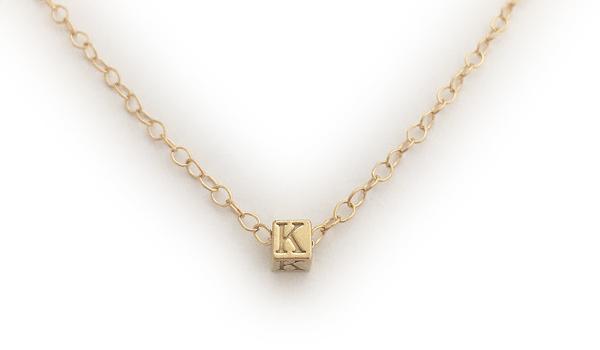 Gold Name Necklaces - Initials or Monogram