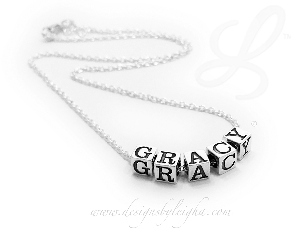 Gracy Name Necklace - Sterling Silver