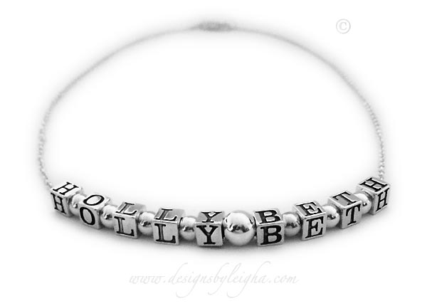 DBL-N-ROLO NecklaceHolly Beth Name Necklace