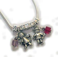 Charm Necklace Mommy Necklaces