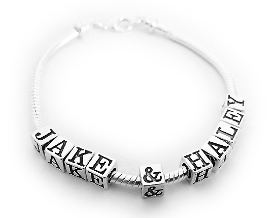 DBL-SS-10 Name(s): JACK & HALEY shown. 10 letters/numbers/symbols, 0 spacer beads