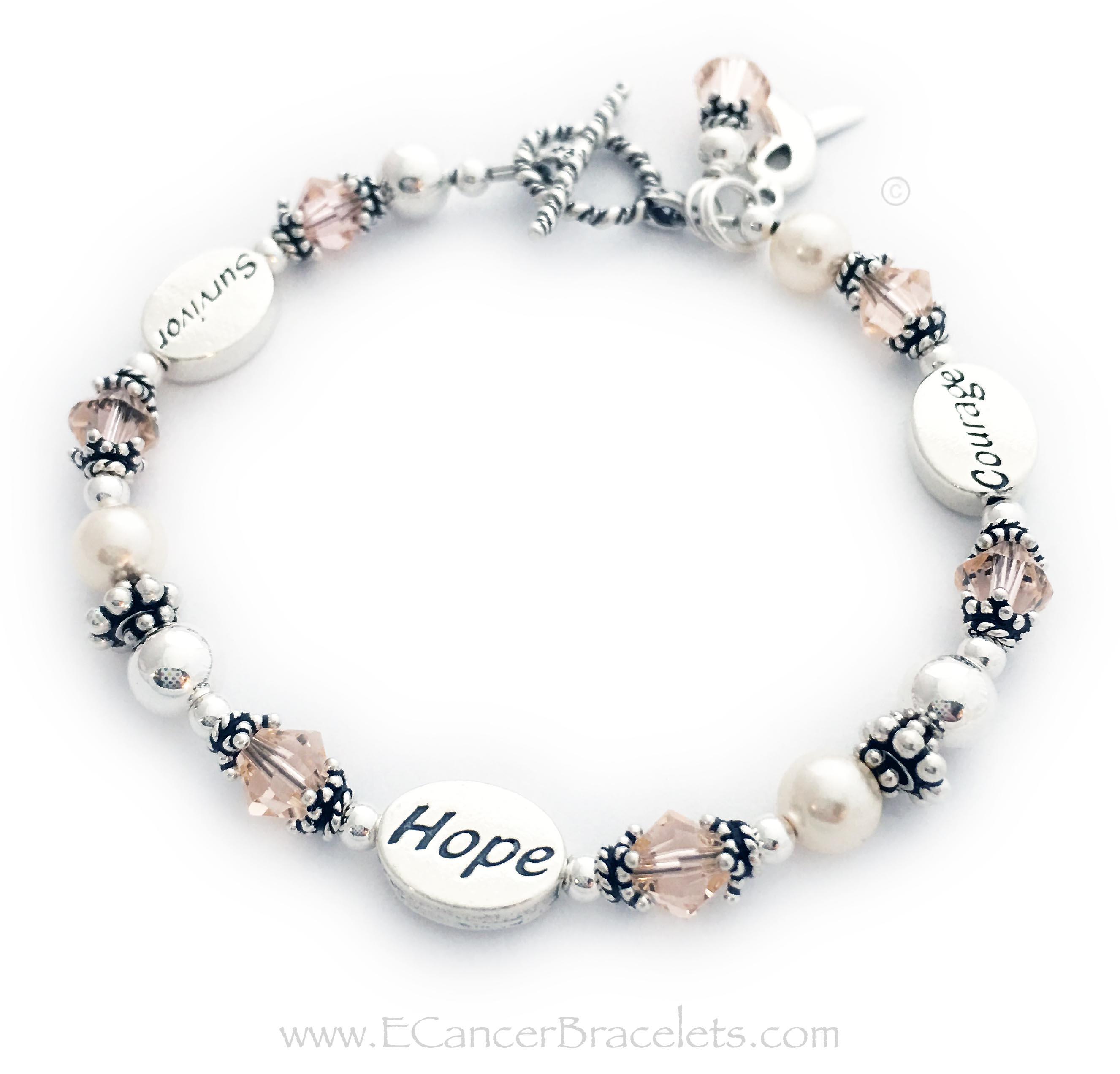 Peach Ribbon Bracelets And Jewelry