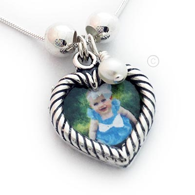 Heart Photo Charm Neecklace