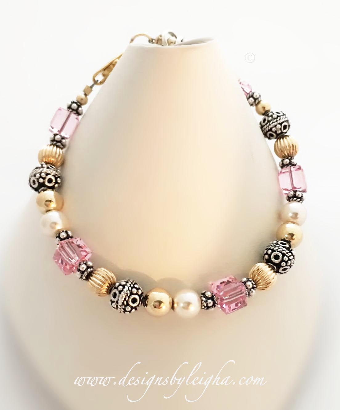 DBL-MB-R26  Breast Cancer Ribbon Bracelet. You choose the color(s).