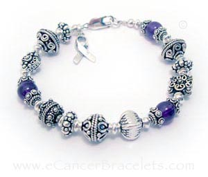 Big Purple Ribbon Bracelet for Epilepsy, Pancreatitis, Thyroid Cancers and many more things...