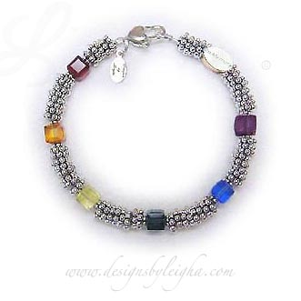 Lots of Sterling Silver Rainbow Bridge In-Memory Bracelet™ #3