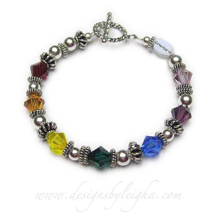 Rainbow Bridge Bracelet™ with 8mm Swarovski Crystals #1
