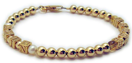Citrine & Pearl Mothers Bracelet - Real Gemstones