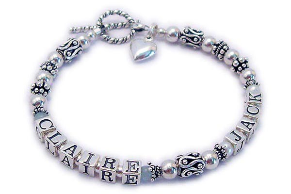 CLair and Jack Mothers Bracelet