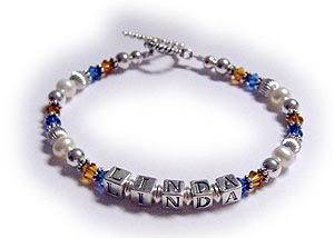 School Jewelry Pride Spirit Colors blue and auburn