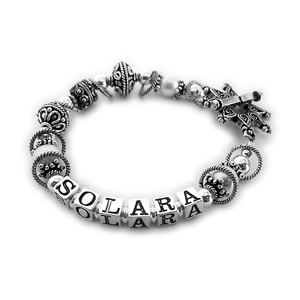 Solara bracelet with large Bali beads and a beautiful star toggle clasp