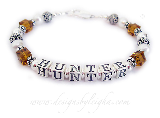 DBL-SS6-1	String Bracelet Order: HUNTER/Nov Shown with a lobster claw clasp.