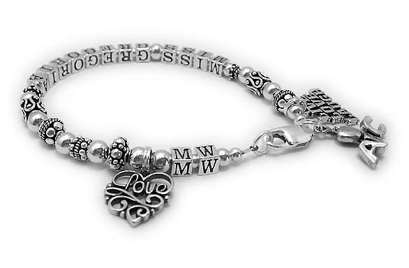 Teacher Bracelet - Gift Ideas for Teachers with ABC Charm