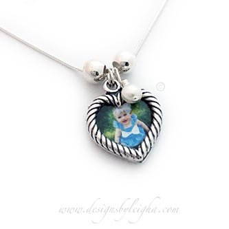 Valentine's Day Heart Picture Frame Necklace