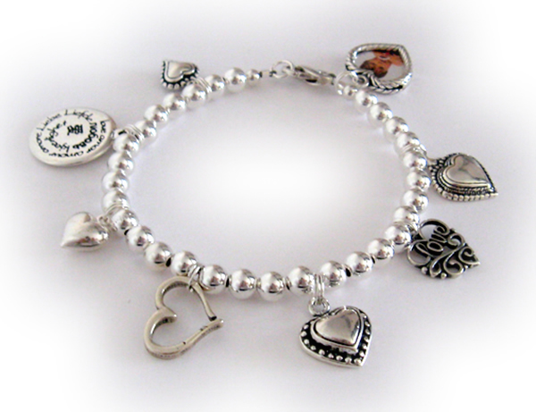 Heart & Love Bracelet with lots of Heart Charms