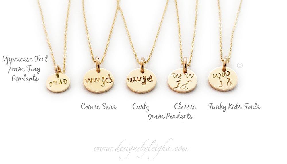 wwjd gold charm necklaces