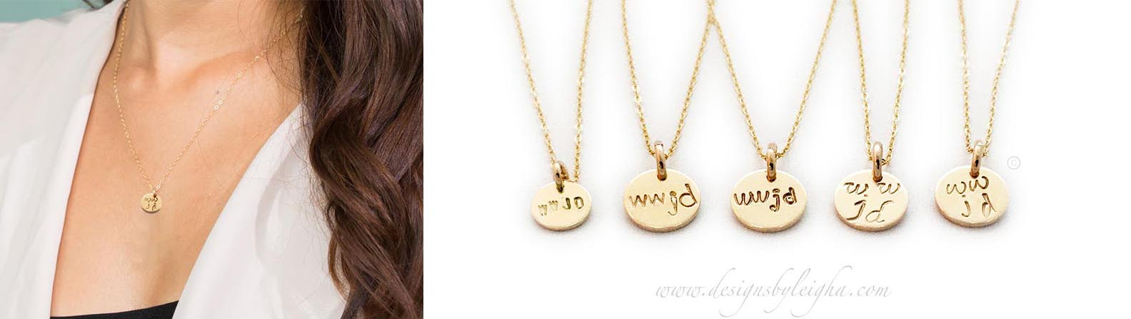 Gold WWJD Necklaces