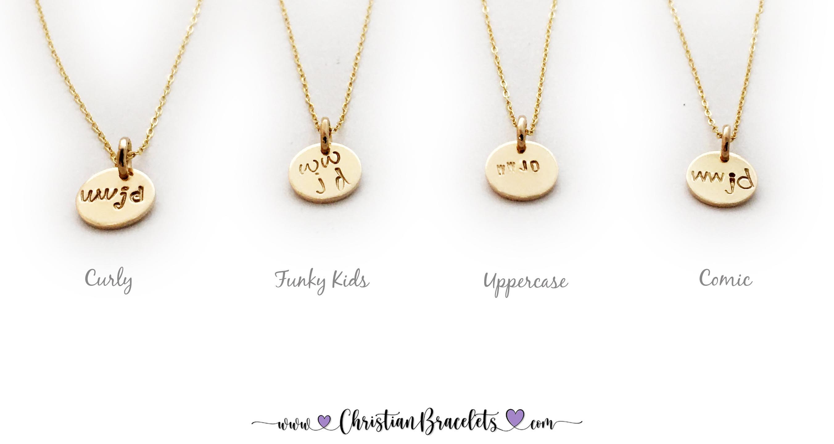 WWJD Gold Necklaces